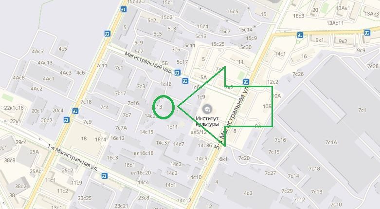 Схема проезда к автосервису Ниссан на Магистральной